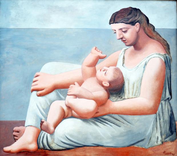 ピカソ「母と子」画像