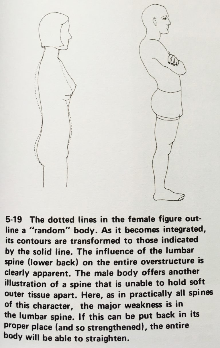 Ida P. Rolf, Ph.D. / ROLFING  Reestablishing the Natural Alignment and Structural Integration of the Human Body for Vitality and Well-Being, p.73, FIG.5-19 Image