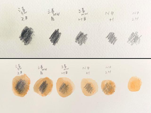 鉛筆・grafix・水彩色鉛筆の実験画像1