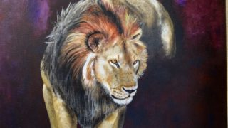 lion painted by RIka Izume